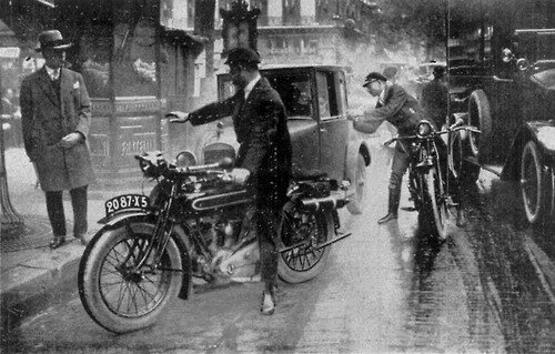 Traffic scene from Paris, c1929