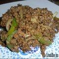 Lentilles au steak haché