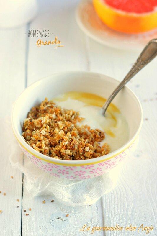 recette granola végétal maison graines lin sésame