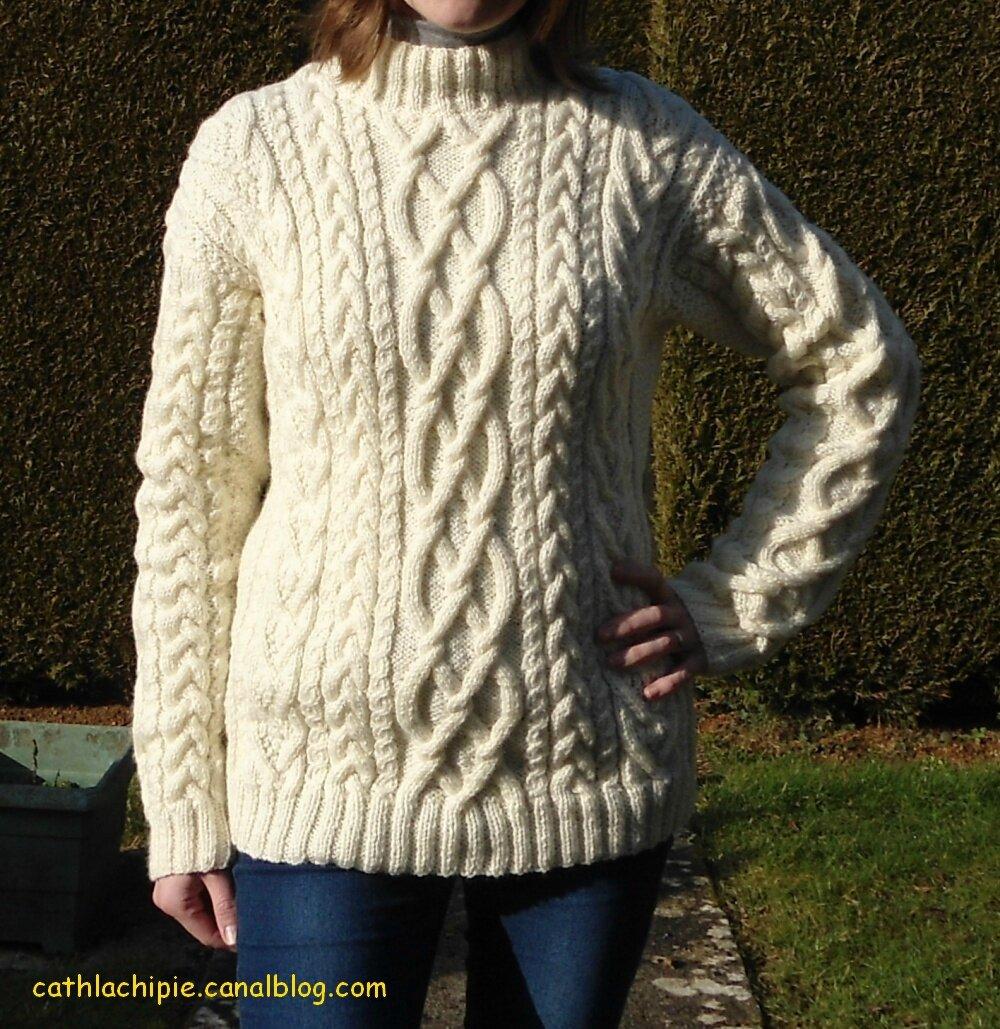 modele pull irlandais femme a tricoter gratuit