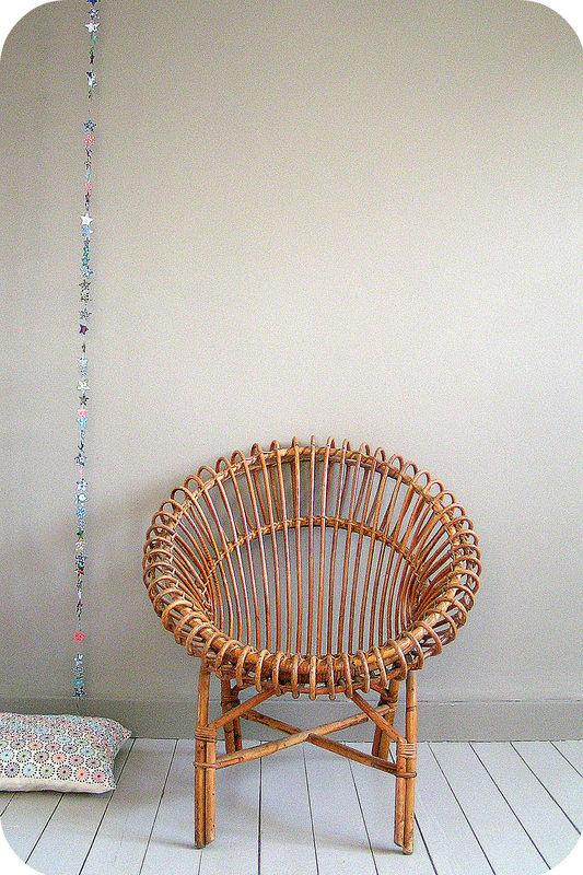 fauteuil soleil en rotin vintage l 39 atelier du petit parc. Black Bedroom Furniture Sets. Home Design Ideas
