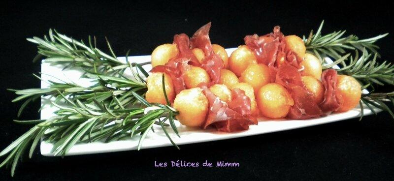 Brochette de melon et bresaola au romarin 3