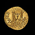 A rare byzantine gold solidus of the empress irene and her son, emperor constantine vi, struck 793-797 a.d.