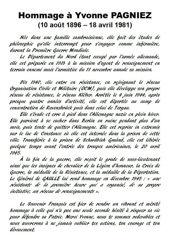Hommage Yvonne PAGNIEZ - Page 1