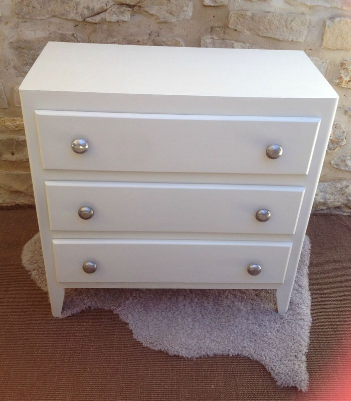 Relooker Une Commode Ancienne. Cheap Commode Blanche Patine