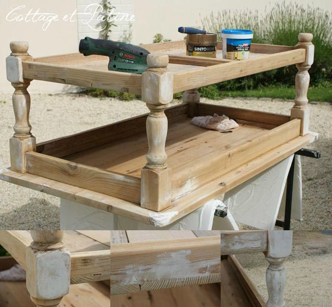 Repeindre une table basse en bois - Customiser une table basse en bois ...