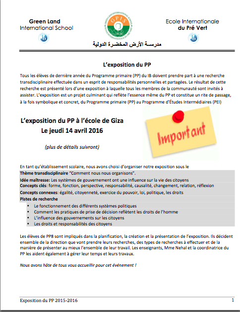exposition Giza page 1