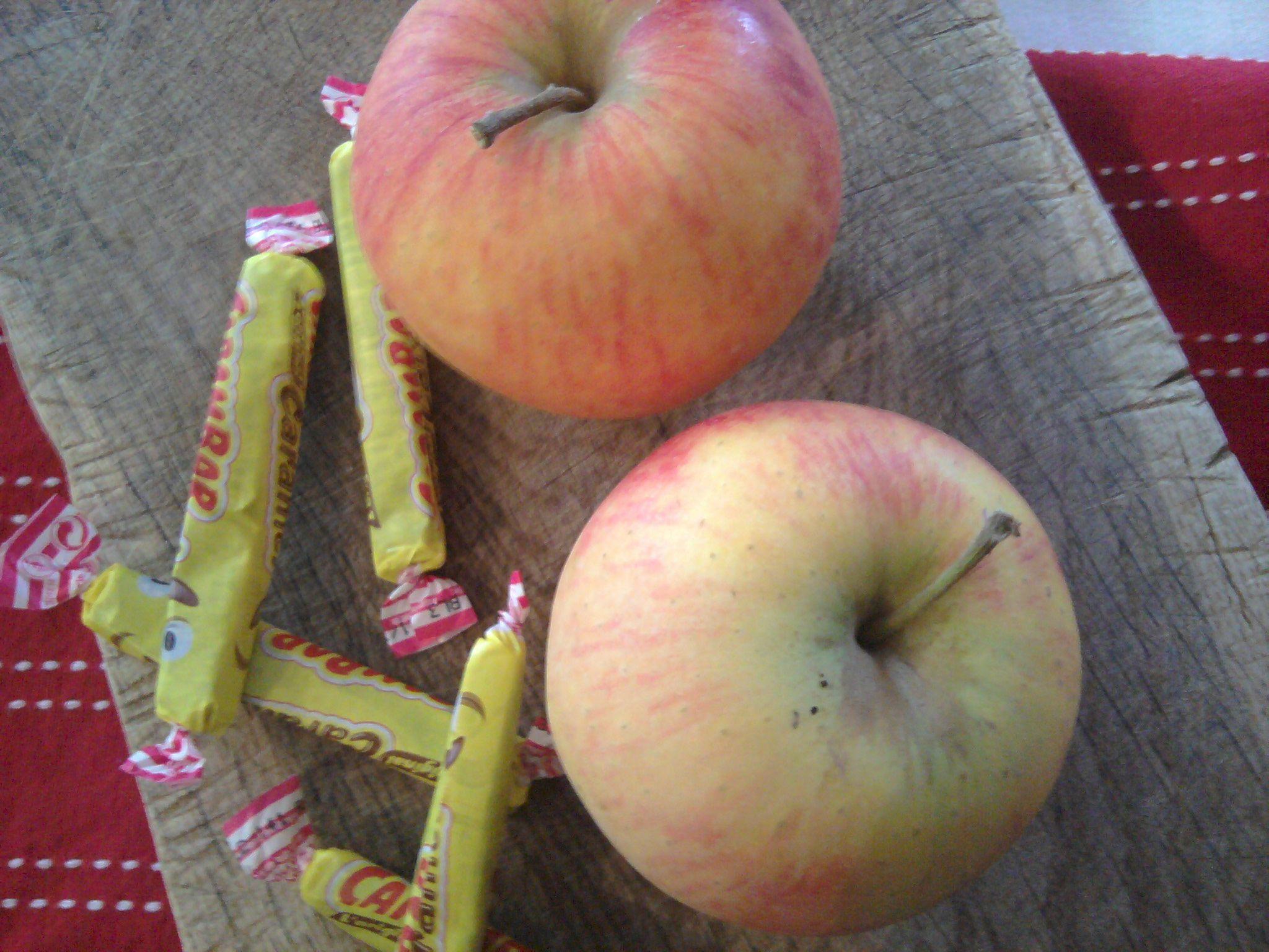 Verrine aux pommes et mousse aux carambars