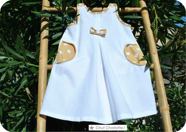 Robe trapèze beige (8chchrc)