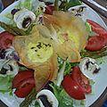 Ballotins au camembert et au chèvre ( recette demarle )