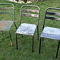 Chaises terrasse de bistrot assise perforée (9)