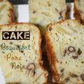 Cake au roquefort, poires et noix