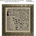 hornbook alphabet noir AMAP