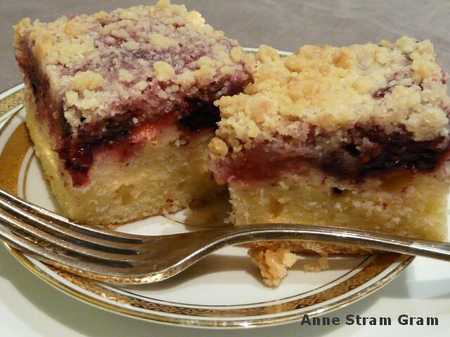 Crumbcake aux fruits rouges