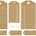 Etiquettes gratuites à télécharger et à imprimer pour le scrapbooking : tags couleur