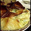 L'arnaque des épinards - tarte-filo aux épinards et à la féta.