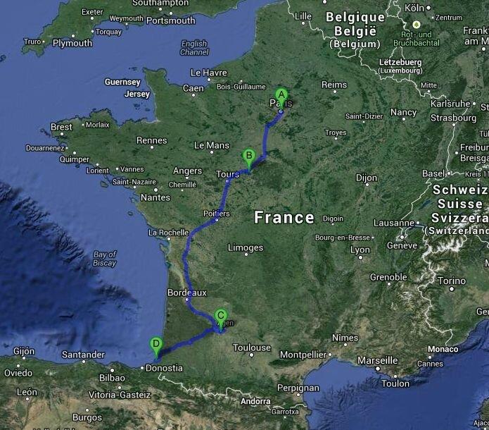Voyage Arigato Zen, mai 2014: Paris, Blois, Agen, Biarritz