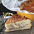 Ma tip-top tarte paysanne aux oignons... si tu rajoutes une abaisse de pâte par-dessus, tu auras une tourte.