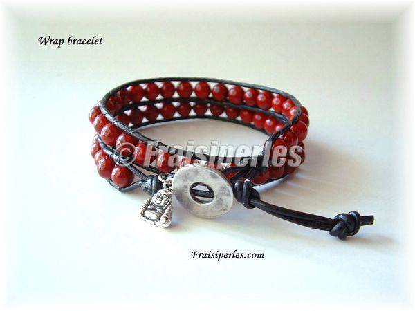 wrap bracelet corail rouge copy