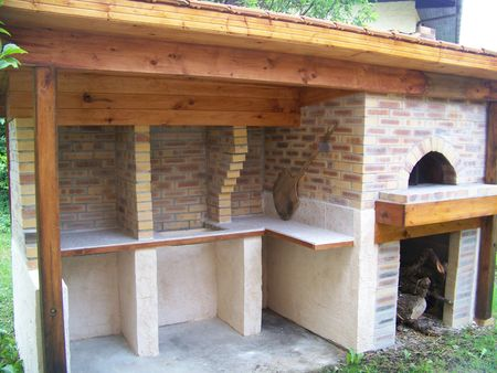 Am nagements ext rieur four pain pizza de de for Construire barbecue exterieur