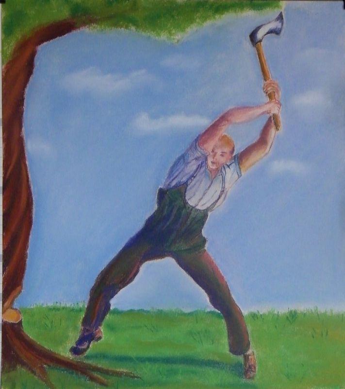 Projet colaboratif d 39 illustration de contes tib tains - Jeux de tronconneuse qui coupe les arbres ...
