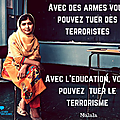 Je suis paris : citation de malala - militante pakistanaise