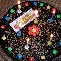 Gâteau d'anniversaire - fondant chocolat