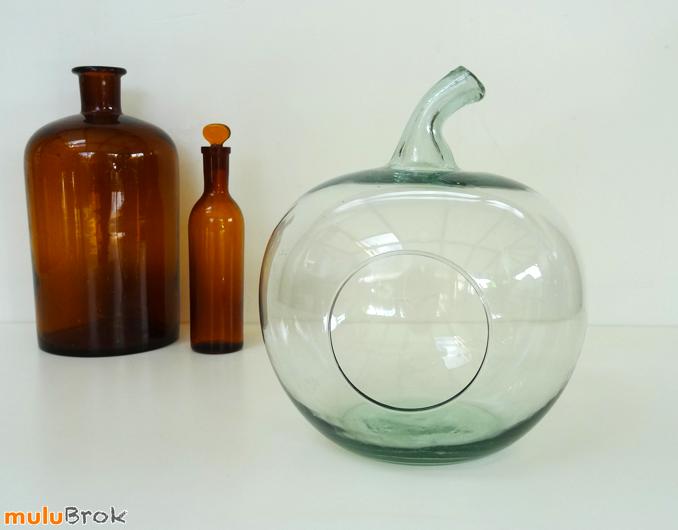 d co vintage terrarium pomme en verre mulubrok brocante en ligne. Black Bedroom Furniture Sets. Home Design Ideas