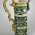Ewer. unknown. chinese porcelain 1662 - 1722, french mounts 1700 - 1710