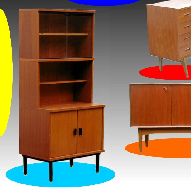 bibliotheque design vintage scandinave en teck vendu meubles d co vintage design scandinave. Black Bedroom Furniture Sets. Home Design Ideas