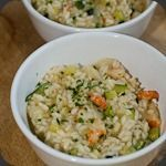 Risotto gambas et courgettes