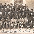 Le capitaine bouverat et les bleus de la classe 1918 du 68e ri.