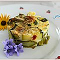 Flan asperges et courgettes lights