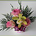 Petite composition florale individuelle