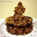 Millefeuille de nougatine au grué de cacao et sa mousse praliné chocolat
