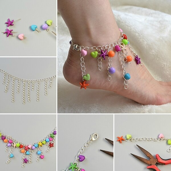 600-Pandahall-Original-Project--How-to-Make-Easy-Tassel-Chain-Anklet-with-Colorful-Beads