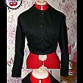 Blouson Col Claudine noir -T38- 85eur- http://fr.dawanda.com/product/40490210-Blouson-Col-Claudine-noir