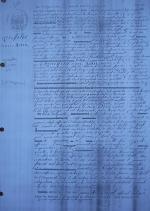 18540817 Acte de décès de Jean Marie Q sur le DuGuesclin Famille Saint Thegonnec Rimpiriou