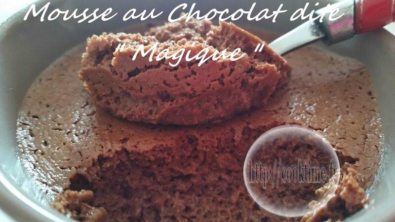 Mousse au chocolat dite magique au thermomix