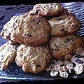 Cookies aux pétales épeautre, amarante et chocolat
