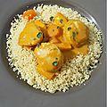 Couscous de saint-jacques et sa bisque de crevettes (thermomix)