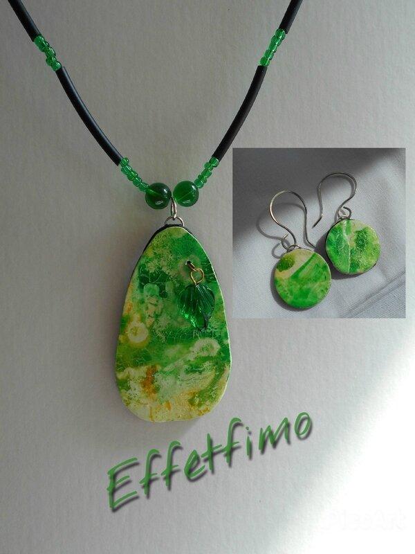 pendentif vert et BO