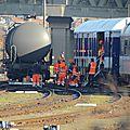 Un wagon a déraillé ce matin sur la gare de triage