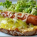 Tartine façon hot dog
