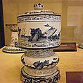 Boîtes à offrandes Minh Mang en émaux bleu et blanc, Manufacture impériale de Huê