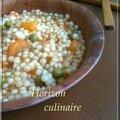 Berkoukés, 3aich, petits plombs aux légumes et poulet