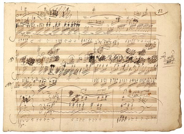 Beethoven Manuscrit du Trio avec piano, opus 70 no 1