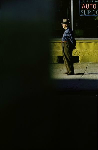 Saul leiter Old man