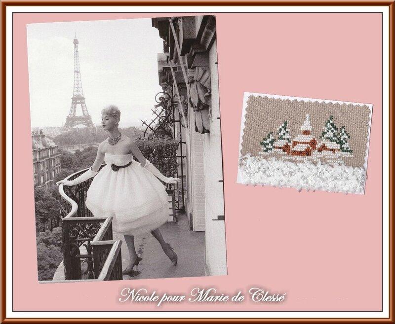 Ronde ATC Chez Véro [Blanc] Nicole pour Marie de Clessé 2