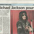 Michael jackson pourrait chanter à paris - le parisien, 31 mars 2009